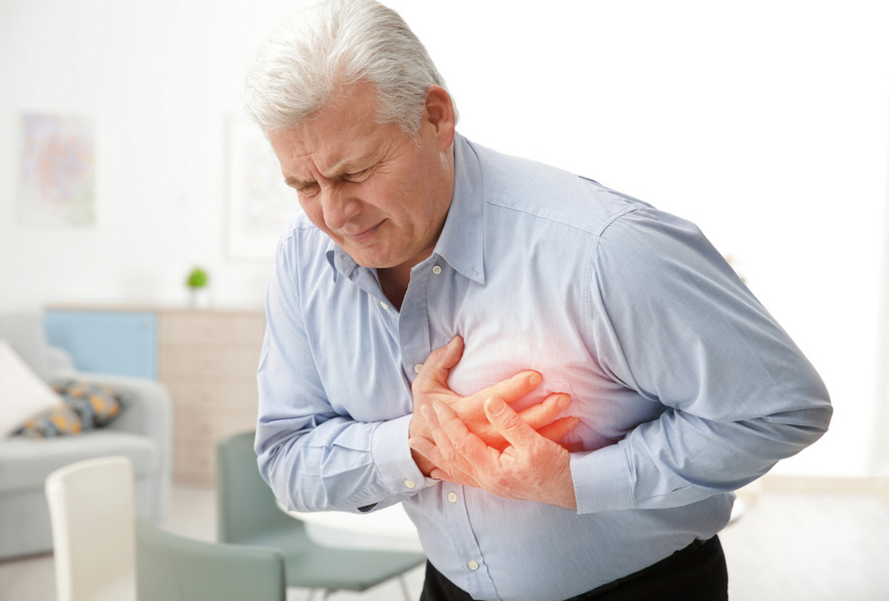 Man suffering from cardiovascular disorders