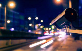 Traffic camera facing street